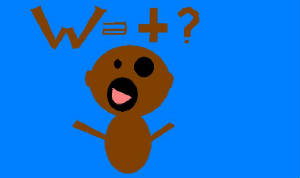 This is a Monkey I made on PAINT!!!